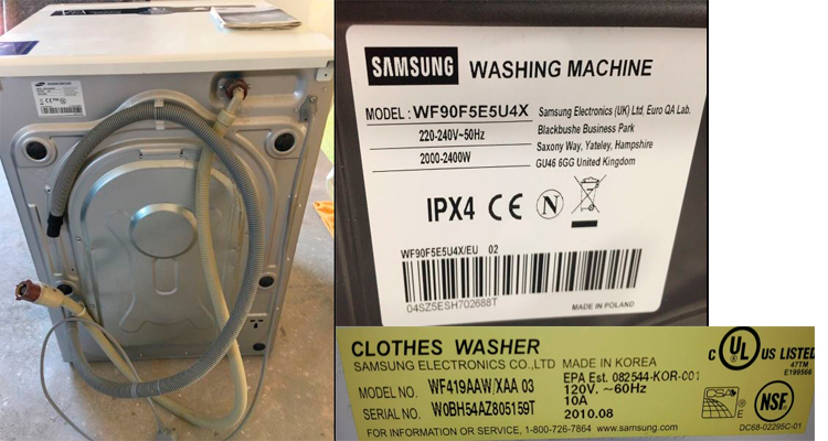 Samsung washer serial number lookup