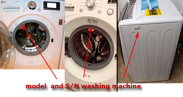 LG washer serial number decoder and where to find it