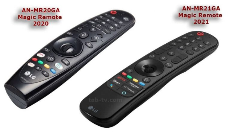 LG Magic Remote 2021 differences: AN-MR21GA and AN-MR21GC Magic Remotes